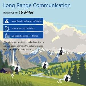 Image 5 - Walkie talkie com cancelamento de ruído, dois sentidos, 22 canais, 0.5w, vox para camping, caminhadas, ciclismo, cruzeiro, viagem de estrada (um par)