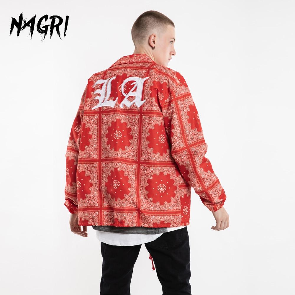 NAGRI Oversize Flower Jacket Coat Men LA Embroidery Floral Print Fashion Lapel Collar Long Sleeve Loose Jackets Hip Hop Outwear