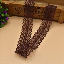 10 jardas/lote fita de fita de renda marrom escuro 28mm laço guarnição tecido diy bordado renda líquida para costura decoração costura acessórios