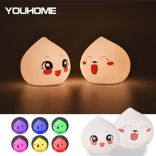 Silicone Night Light Touch Sensor Control USB Powered LED Drop shape Lamp For Children Baby Kids Bedside Bedroom gift nightlight