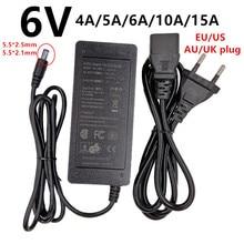 범용 6 V AC 전원 어댑터 공급 110V 220V 6 V 6 볼트 4A 5A 6A 10A 15A 스위치 변환기 어댑터 ac/DC adaptador 5.5mm