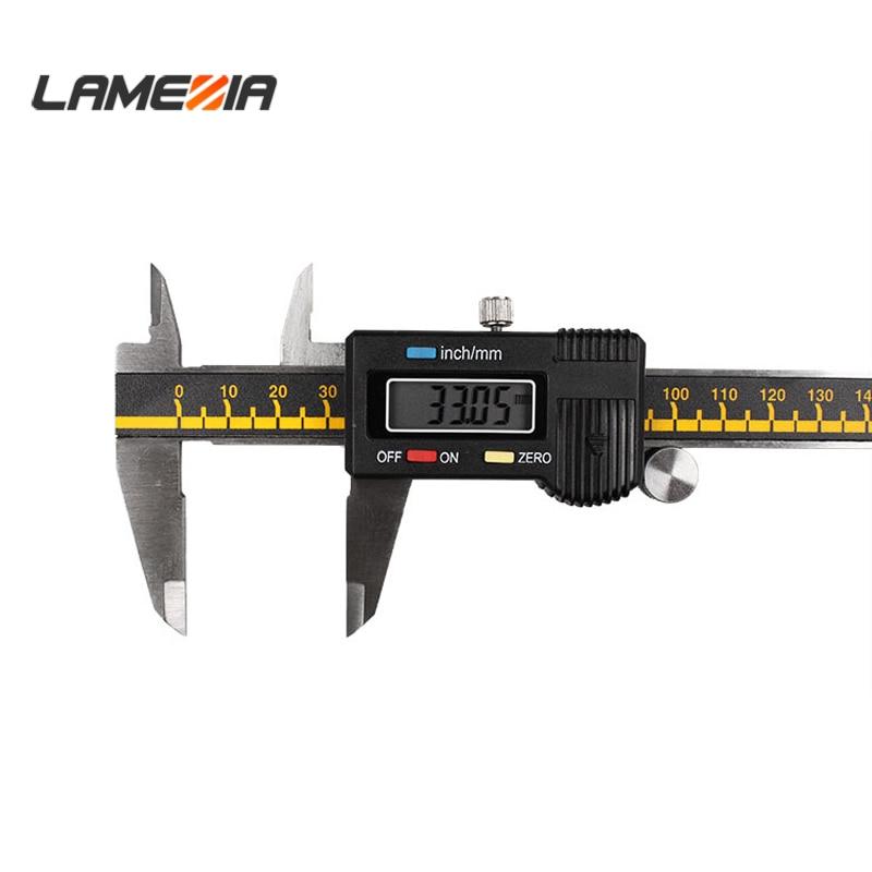 "150mm Digital Vernier Caliper Stainless Steel Ruler 6/"" LCD Electronic Measurment"
