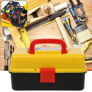 Image 5 - 3 Layer Folding Tool Storage Box Portable Hardware Toolbox Multifunction Car Repair Container Case Thickening folding rods