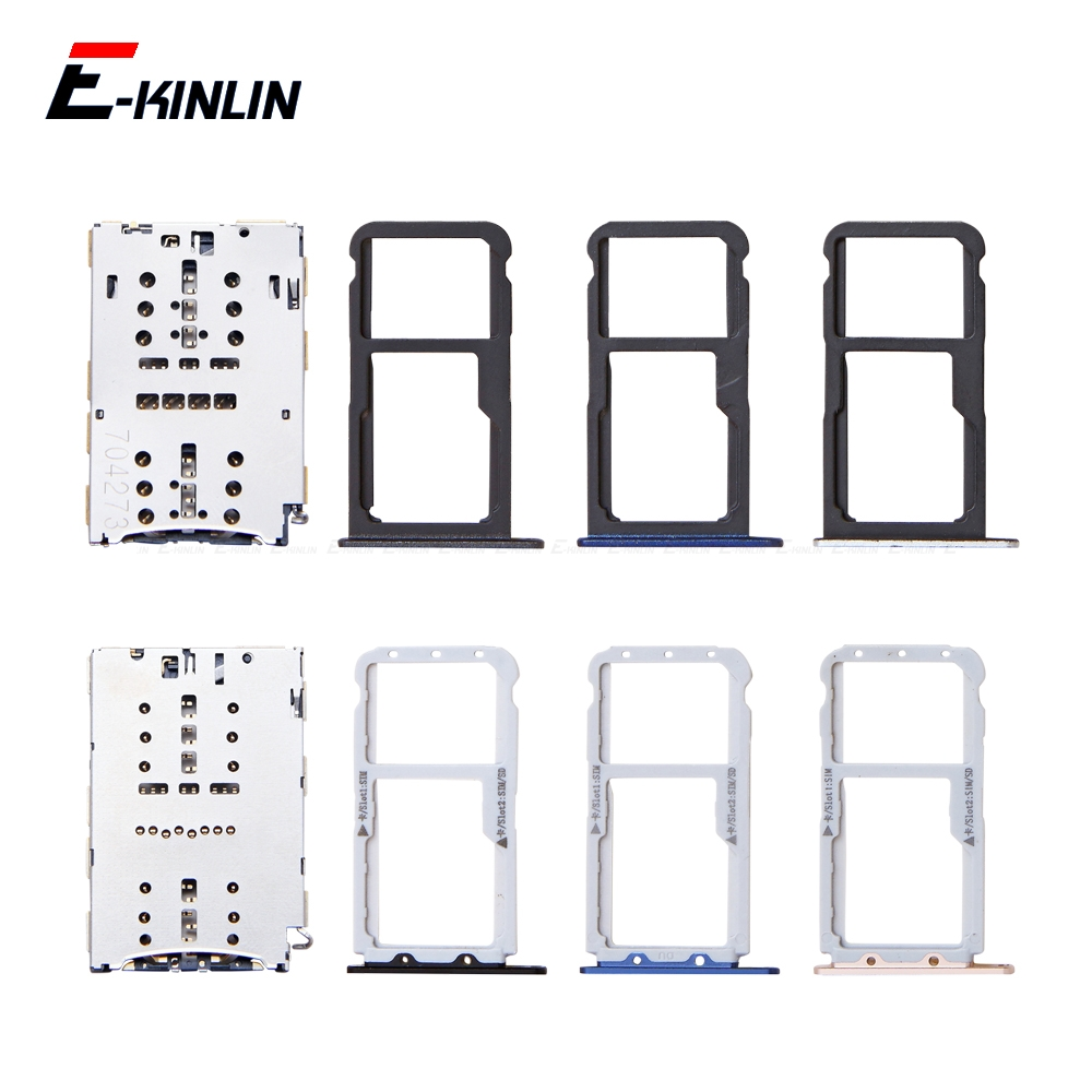 Sim Micro SD Card Socket Holder Slot Tray Reader For HuaWei Honor 8 Pro Lite Adapter Container Connector Replacement Parts