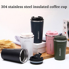 Coffee cup portable accompanying cup vacuum stainless steel carrying cup European small luxury couple coffee insulation cup wate