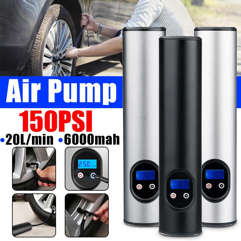 Air-Compressor Inflatable-Pump Portable Bicycles Tires-Balls 150PSI with Lcd-Display title=