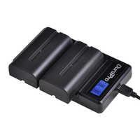2PC 2600mAH NP-F550 NP-F570 NP F550 Camera Battery + LCD USB Charger for Sony NP-F330 NP-F530 NP-F570 NP-F730 NP-F750 CCD-RV100