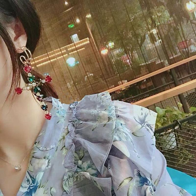 Купить корейский новый тренд красочные сердце кристалл подвеска в форме