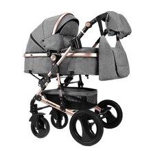 LUXMOM коляска детская с автокреслом коляска 2 в 1 трансформер для зимы ускоренная доставка