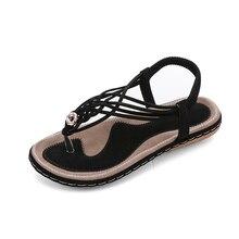 BWB 2020 Sandals Women Elastic Band Flat Shoes Rome Fashion Stitching Shoes Women Open Toe Shoes Fashion Plus Size Summer Shoes summer style flat shoes plus size women s fashion bohemian bandage cotton sandals clip toe sandals shoes
