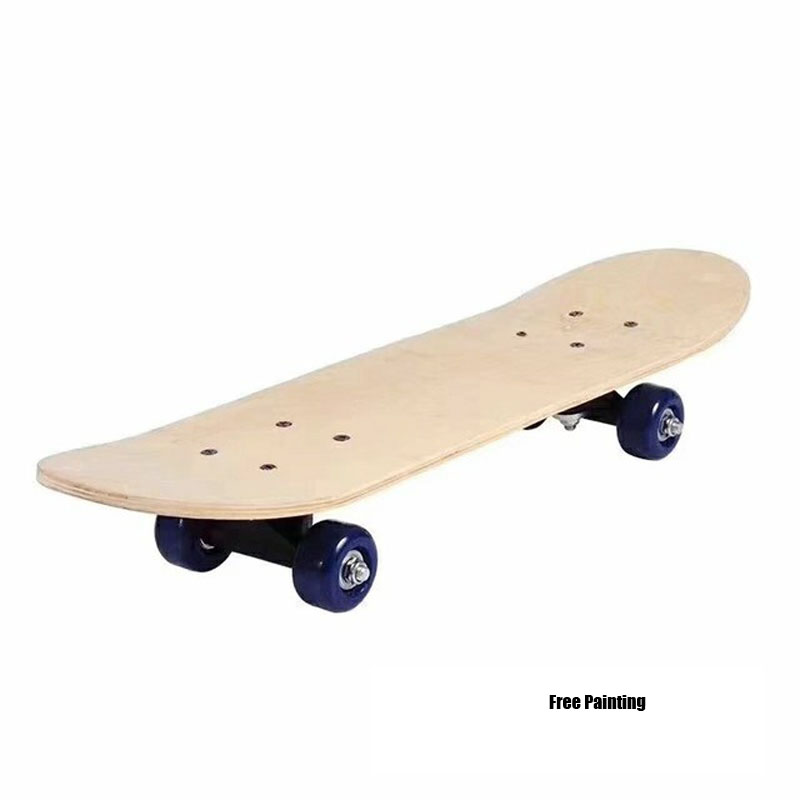 DIY Painting 8-Layer Maple Blank Double Concave Skateboard Natural Maple Wood Longboard Freestyle Double Rocker Board