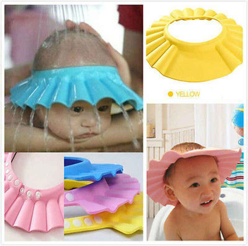 Regulowany miękki szampon dla dzieci korek do wanny i prysznica szampon dla dzieci głowa do czepek pod prysznic dla dzieci czepek kąpielowy do kąpieli