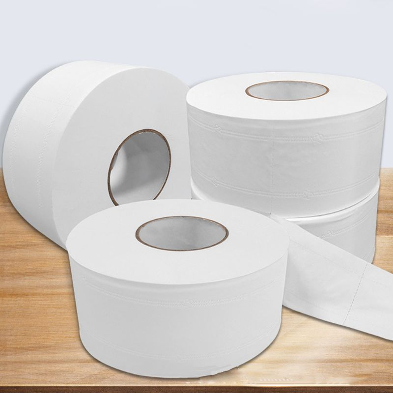 Wood Pulp Toilet Paper Towel 4 Layers Embossed Food Grade No Core Tissue