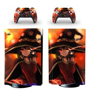 Anime Cute Girl PS5 Standard Disc Edition Skin Sticker Decal Cover for PlayStation 5 Console & Controller PS5 Skin Sticker Vinyl 1