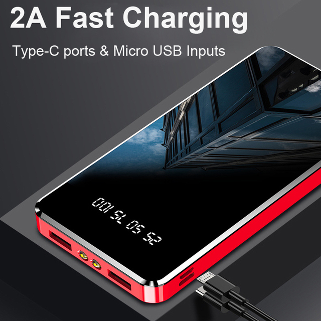 Power Bank 20000mAh Fast Charging Powerbank Slim Poverbank Portable External Battery Charger For Xiaomi Mi 9 8 iPhone 11 Pro Max 4