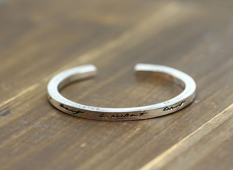 100% браслет из стерлингового серебра S925 пробы, индивидуальный простой модный стиль, властное открытие, стиль, отправка в подарок, ювелирные браслеты - 2