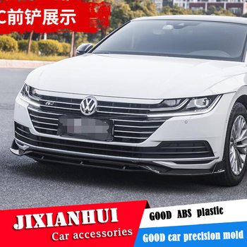 For CC Body kit spoiler 2019- For Volkswagen CC SC ABS Rear lip rear spoiler front Bumper Diffuser Bumpers Protector