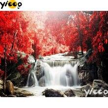 Полноразмерная/круглая алмазная живопись Осенний водопад 5d