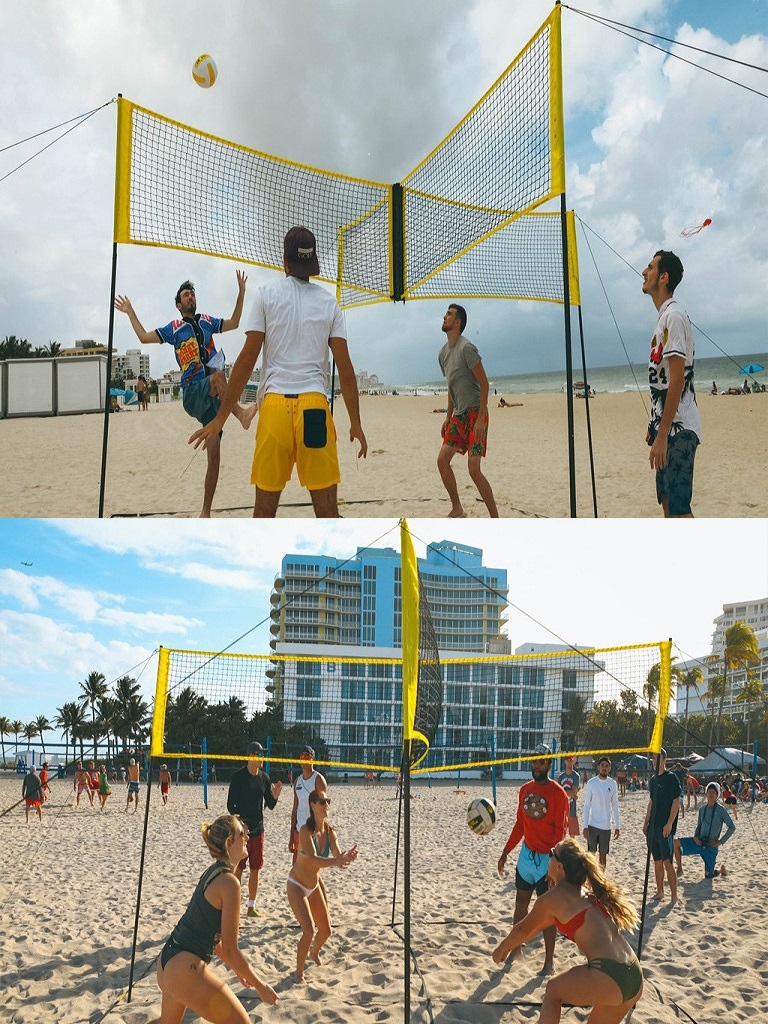 Multi-player Cross Volleyball Net Sports Equipment Team-Game Training Indoor Outdoor Activity High Durable Quality