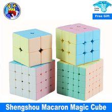 Shengshou lenda macaron 2x2 3x3 4x4 5x5 cubo mágico sensou velocidade cubo macaron cor primeira infância brinquedo divertido educacional cubo