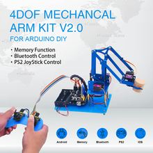 Keyestudio 4DF Mechanical PS2 Joystick Metallic Robot Arm Learning Starter Kit V2.0 for Arduino DIY