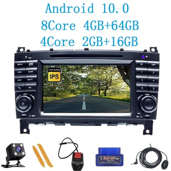 ZLTOOPAI Android 10 For Mercedes Benz W203 W209 W219 A160 C180 C200 CLK200 Multimedia Player Autoradio Stereo SWC GPS Navigation image