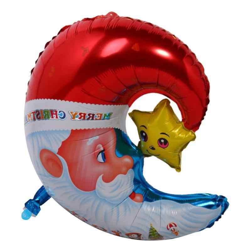 Merry Christmas บอลลูน Santa Claus ฟอยล์บอลลูนของขวัญกล่อง Globos Christmas Tree Bell ลูกบอลตกแต่งคริสต์มาส Xmas เครื่องประดับ