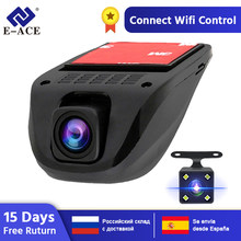 E-ACE Wifi Car DVRs Dash Cámara videocámara doble lente de cámara oculta Mini cámara Full HD 1080P Auto reestrator Dvr(China)