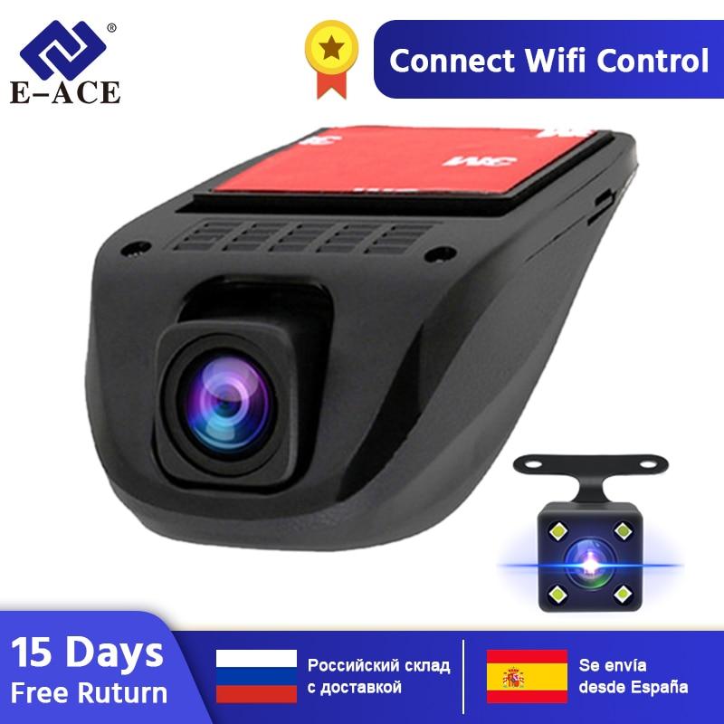 E-ACE Wifi Car DVRs Dash Camera Video Recorder Camcorder Dual Camera Lens Hidden Mini Camera Full HD 1080P Auto Reistrator Dvr