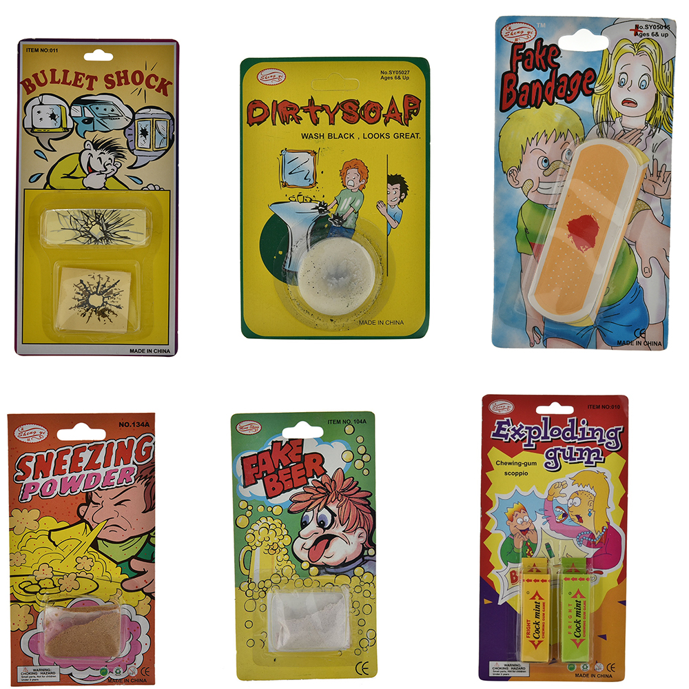 Many Funny Fart Bomb Bags Palm Fake Poop Turd Crap Poo Cigarette Chewing Gum Halloween April Fool's Day Novelty Tricky Toys