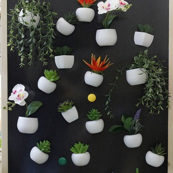 Fridge Magnets Potted Artificial Succulent Plants Bonsai Fake Flower Souvenir Blackboard Magnetic Stickers Home Wall Decor 1