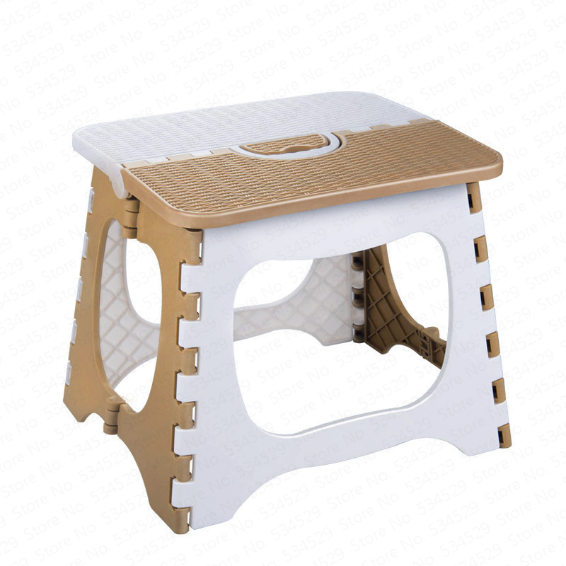 Fashion Thick Plastic Folding Small Stool Portable Folding Chair Mini Child Seat Adult Household Small Bench