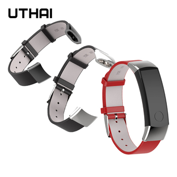 UTHAI P47 Genuine Leather Strap For Huawei Honor Band 3 Smart Watch Soft Bracelet - discount item  15% OFF Watches Accessories