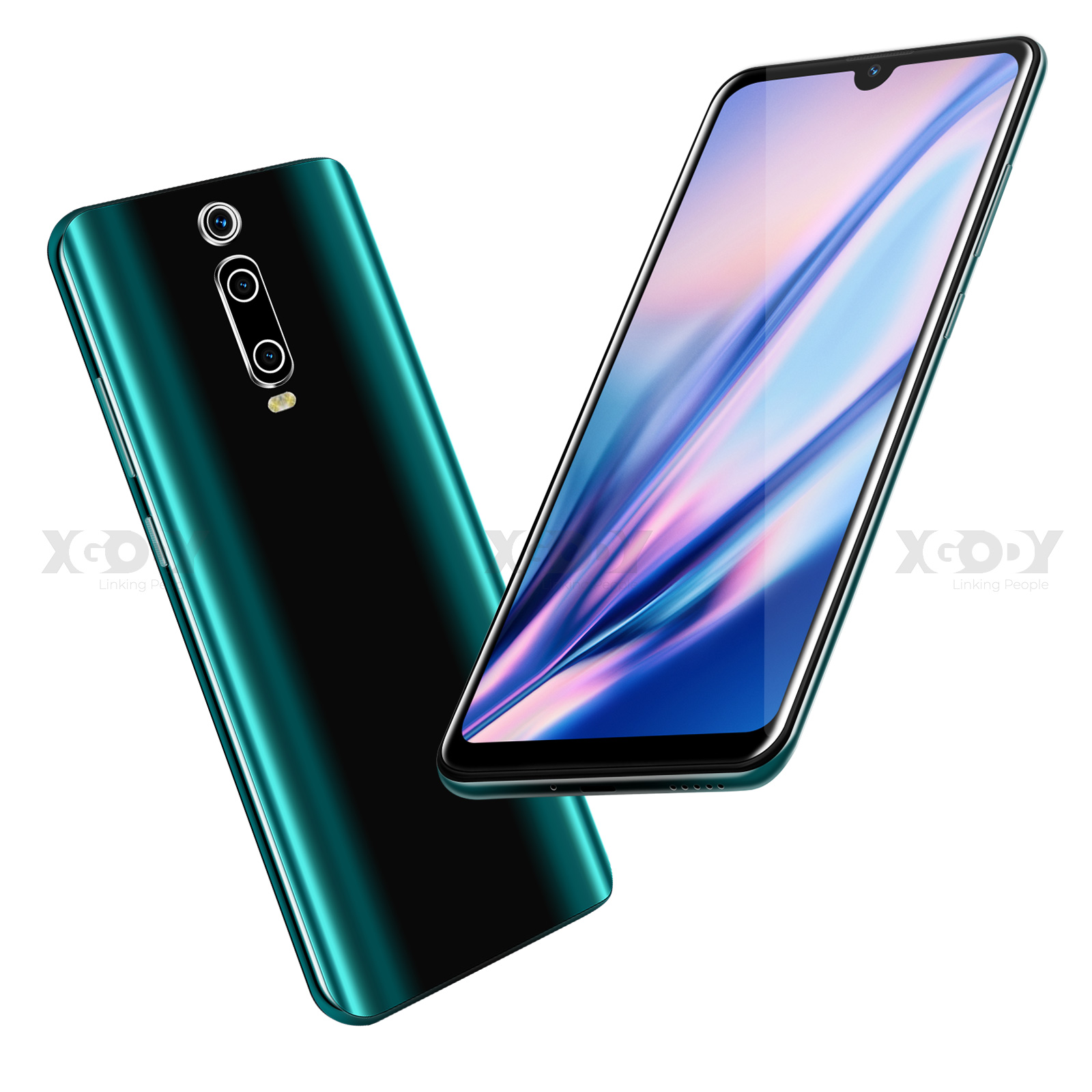 XGODY 6.26'' Waterdrop Mobile Phone 9T Android 9.0 1GB 4GB Full Screen Smartphone MTK6580 Quad Core 2800mAh 5MP WiFi Cell Phones