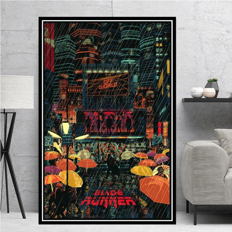 Blade Runner 001 Framed Canvas Print