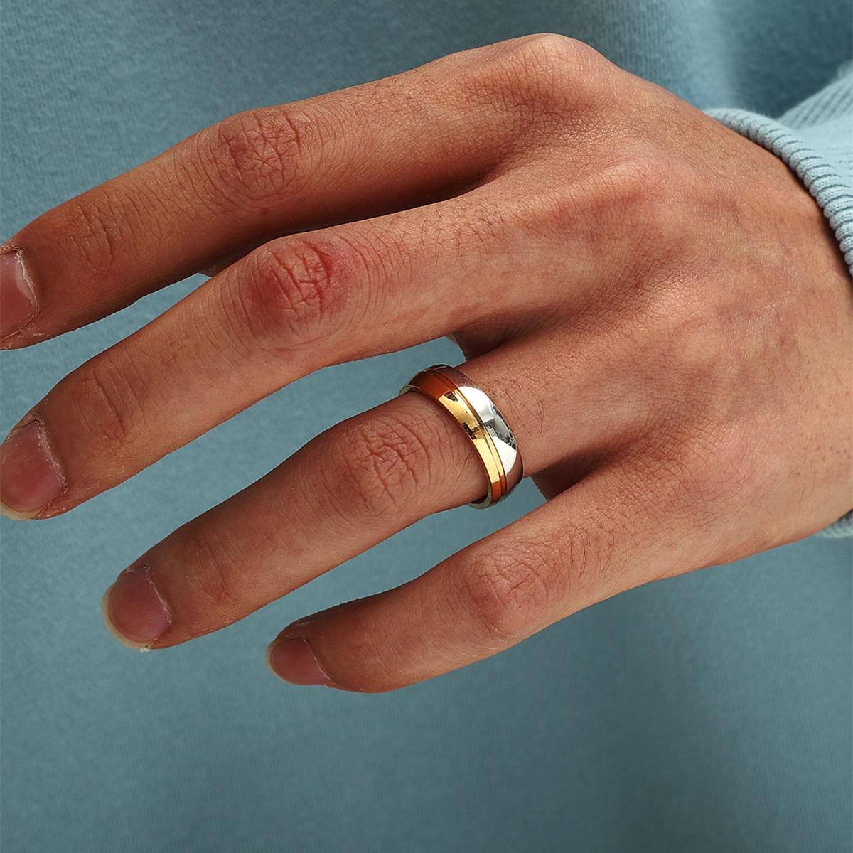 Кольцо обручальное из нержавеющей стали 316L, серебро 925 пробы, Размер 17 18 19 20 21 мм