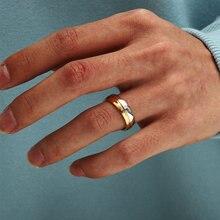 316l titânio aço inoxidável anel de dedo 925 prata para homens e mulheres casamento noivado anel tamanho 17 18 19 20 21mm atacado