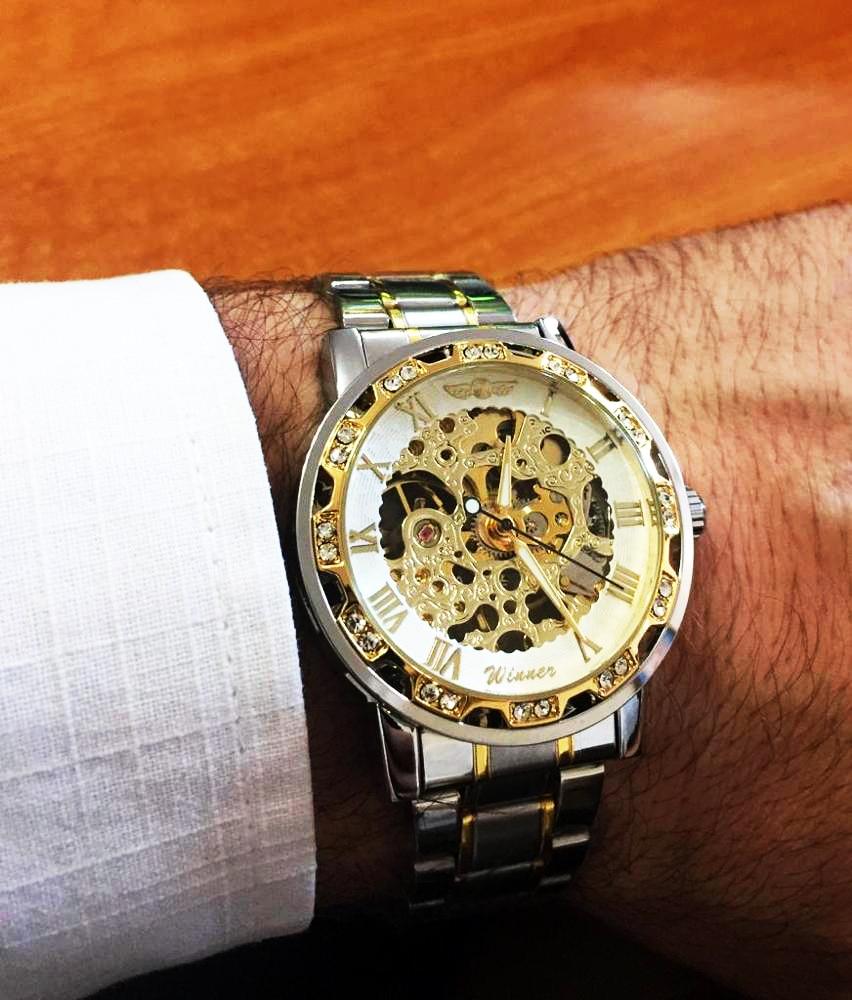 Hafe15b41b3604443ad946913d1e826fdc Winner Transparent Fashion Diamond Luminous Gear Movement Royal Design Men Top Brand Luxury Male Mechanical Skeleton Wrist Watch