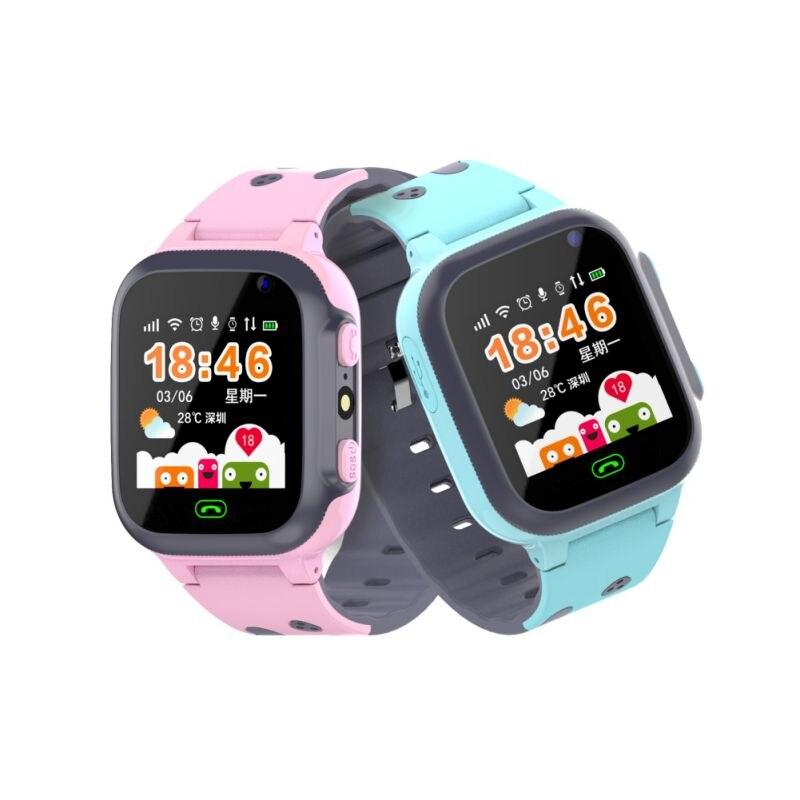 Enfants Smartwatch avec SOS voix Chat caméra lampe de poche réveil numérique montre-bracelet Smartwatch filles garçons cadeaux d'anniversaire