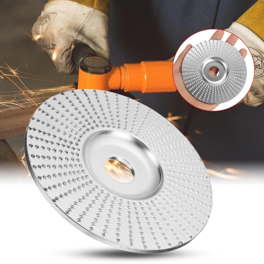 JUSTINLAU Flat 100x16mm Golden Chrome Wood Carving Disc Grinding Wheel Sanding Abrasive Disc For Angle Grinder