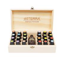 DoTERRA Essential Oil Storage drewniane pudełko 25 schowek na schowek 15ML 24 + 1 pudełko wystawowe na olejki eteryczne tanie tanio CN (pochodzenie) Zaopatrzony Other Trójwymiarowy typu Prostokątne doTERRA Essential Oil Organizer