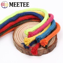 10m 5mm 100% Cotton Rope 16 Shares High Tenacity Twisted Cord DIY Deoration for Bag Drawstring Belt Garment Craft