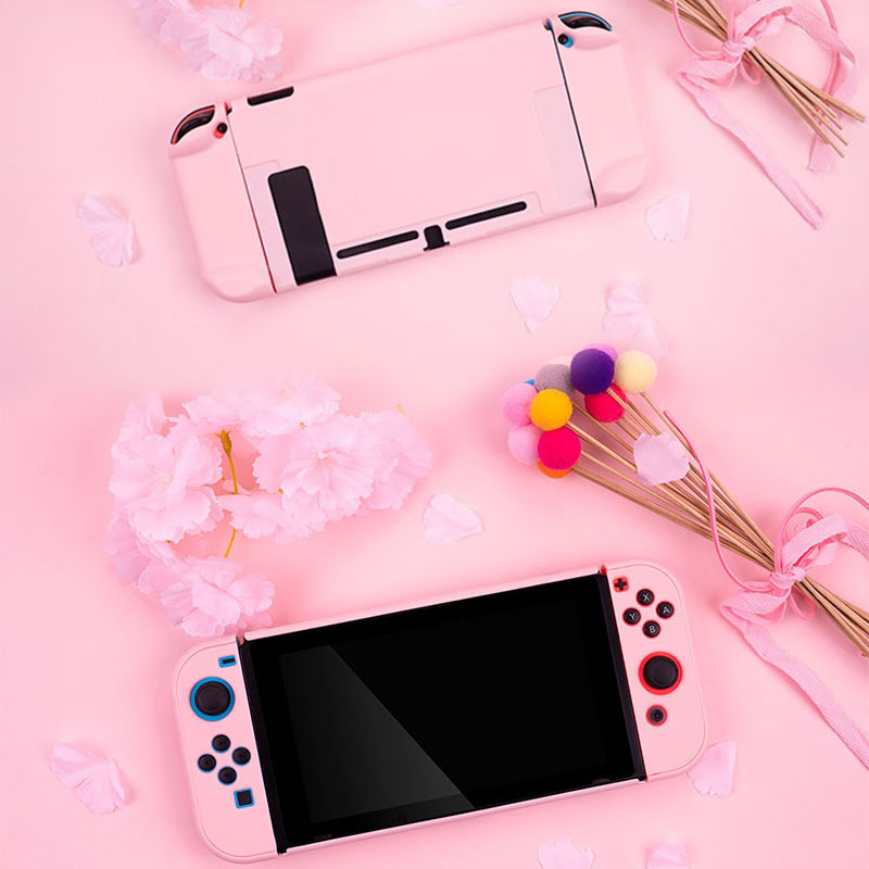 For Nintendo Switch Case Controller Shell Pink Hard Cover Shell NS Game Console Protective Cover For Nintendo Switch Accessories