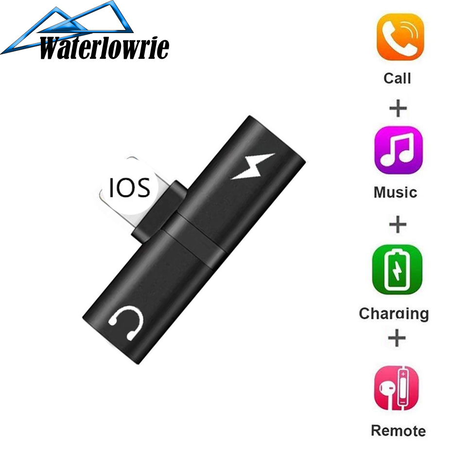 2 In 1 Splitter For Lightning Audio Charging Adapter For IPhone 7 8 Plus/X Headphone Adapter Converter Mobile Phone Accessories