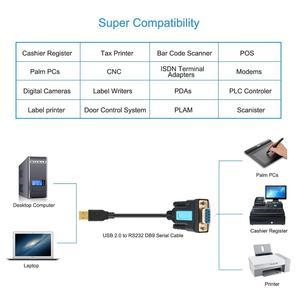 Image 4 - USBเพื่ออัพเกรดRs232 Serial Cableหญิงพอร์ตUSBอะแดปเตอร์USB 2.0 ถึงRS232 หญิงสายUSB COM rs232 Usb Converter