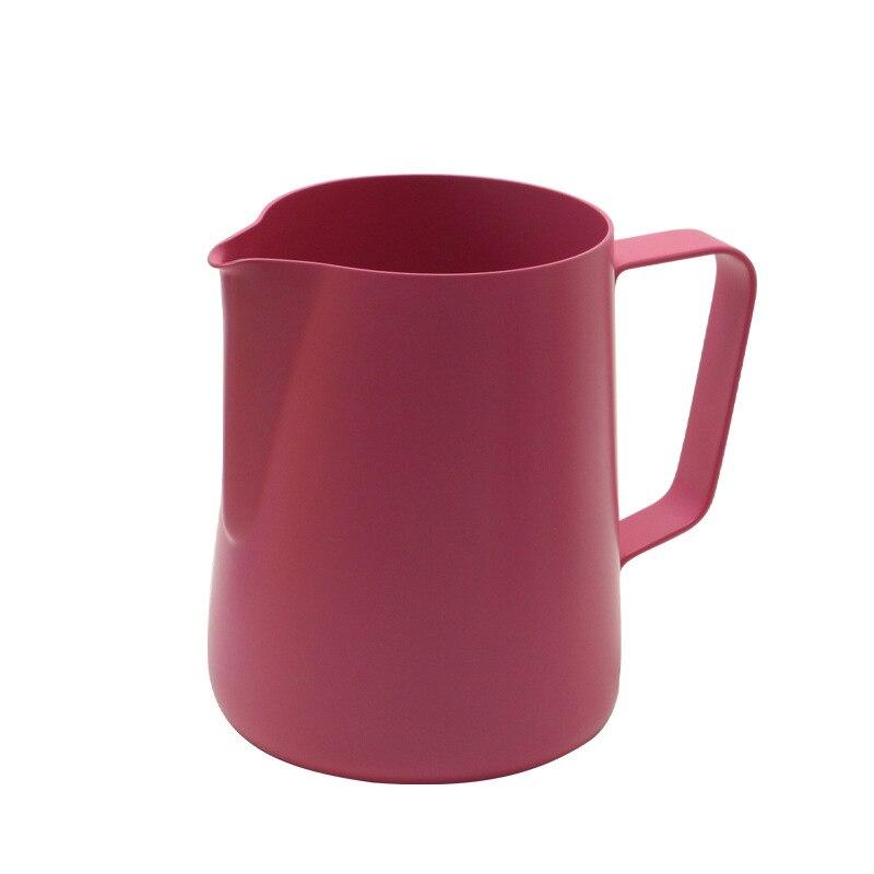 Image 3 - 600ml acier inoxydable lait mousseur cruche expresso café pichet  Barista artisanat café Latte lait mousseur pichet 6 couleursLait  Cruches