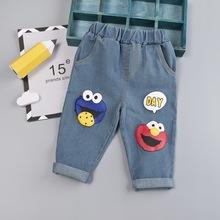 Modne chłopięce jeansy jesienne kreskówki dorywczo spodnie na ubranka dla niemowląt i małych chłopców ubrania dla dzieci spodnie jeansowe 1-4 letnie ubrania dla dzieci tanie tanio Cartoon Proste W-K03 Pełnej długości Boys baby Poliester Nowoczesne Pasuje prawda na wymiar weź swój normalny rozmiar