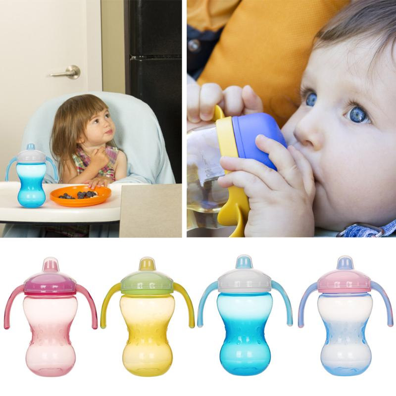 360ml/180ml Silicone Duck Mouth Baby Feeding Cups Drinking Learn Bottle With Handle Baby Feeding Props Feeding Bottle For Baby