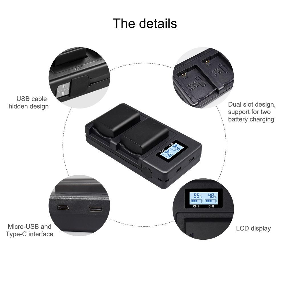 bateria digital lcd inteligente slot duplo usb