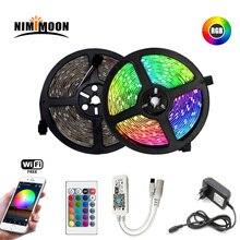 RGB LED strip 5m 10m 15m waterproof led neon light 2835 DC12V 60 Leds / M tape controller adapter